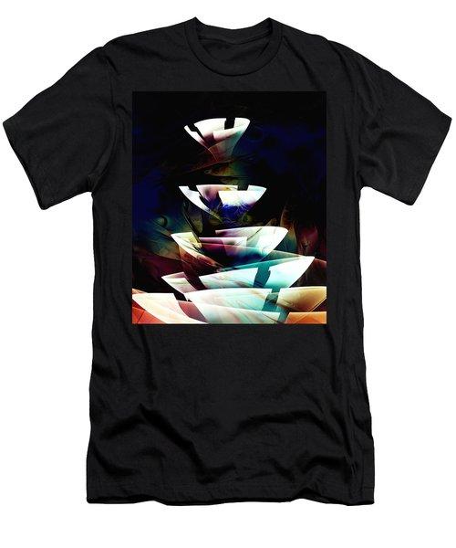 Men's T-Shirt (Athletic Fit) featuring the digital art Broken Glass by Anastasiya Malakhova