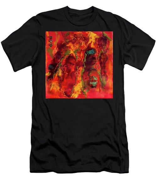 Broken Mask Encaustic Men's T-Shirt (Athletic Fit)