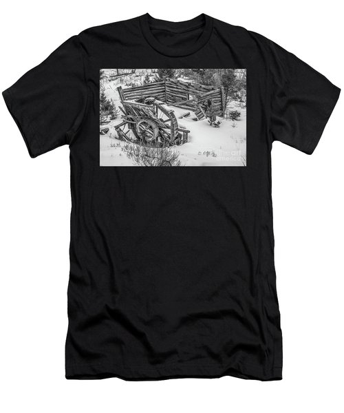 Broken Water Wheel Men's T-Shirt (Athletic Fit)