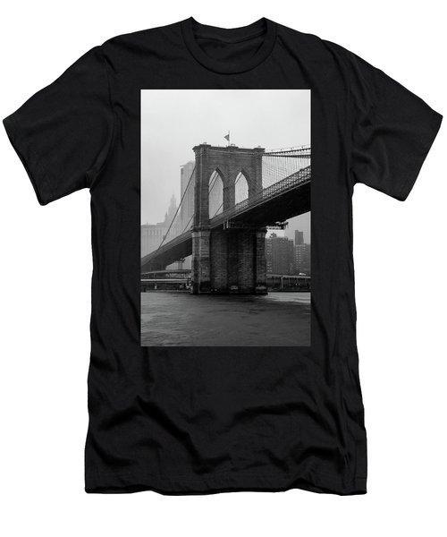 Brooklyn Bridge In A Storm Men's T-Shirt (Athletic Fit)