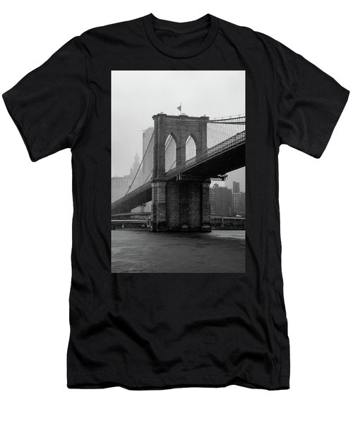 Brooklyn Bridge In A Storm Men's T-Shirt (Athletic Fit)