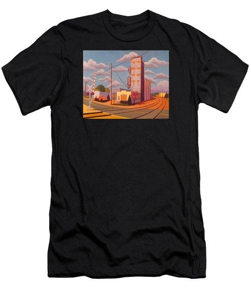 Broomfield Grain Elevator Men's T-Shirt (Athletic Fit)