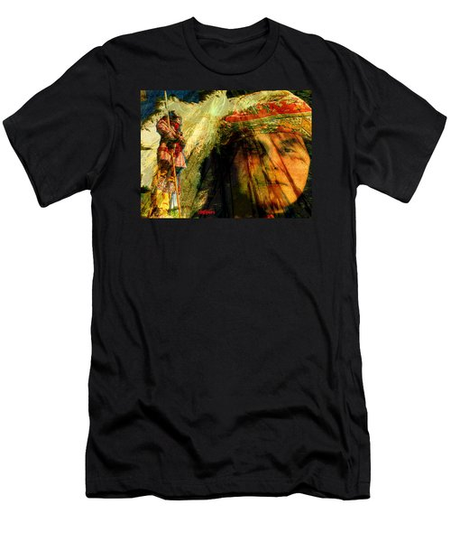 Men's T-Shirt (Slim Fit) featuring the digital art Brother Wind by Seth Weaver