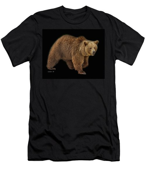 Men's T-Shirt (Athletic Fit) featuring the photograph Brown Bear 5 by Larry Linton
