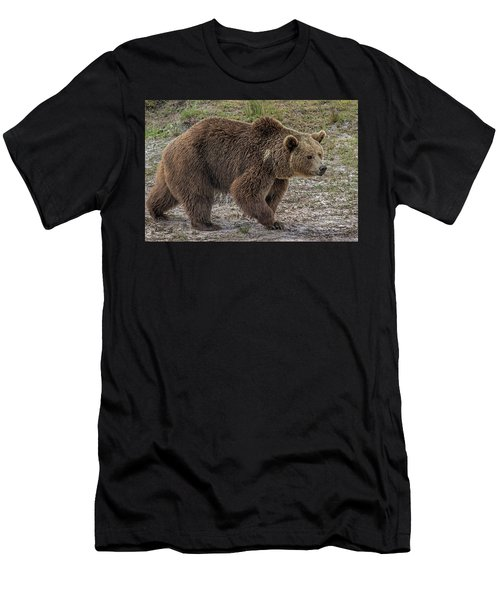 Men's T-Shirt (Athletic Fit) featuring the digital art Brown Bear 6 by Larry Linton