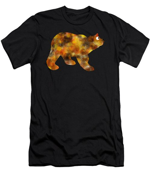 Brown Bear Silhouette Men's T-Shirt (Athletic Fit)