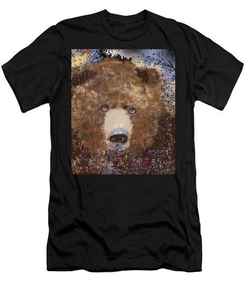 Visionary Bear Final  Men's T-Shirt (Athletic Fit)