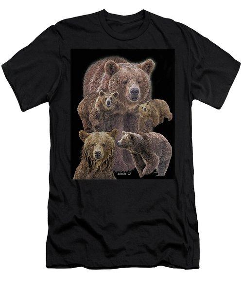 Brown Bears 8 Men's T-Shirt (Athletic Fit)