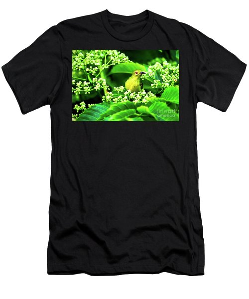 Men's T-Shirt (Athletic Fit) featuring the photograph Brown Neck Sunbird by Ray Shiu