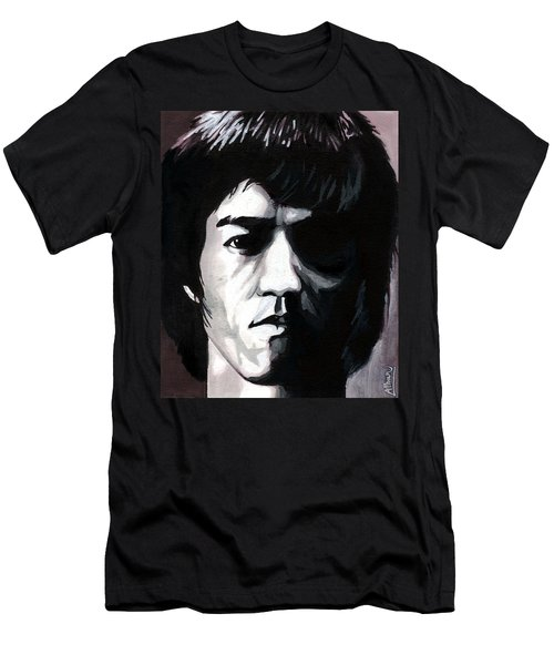 Bruce Lee Portrait Men's T-Shirt (Athletic Fit)