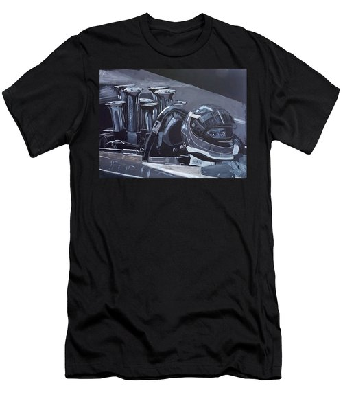Men's T-Shirt (Athletic Fit) featuring the painting Bruce Mclaren Canam by Richard Le Page