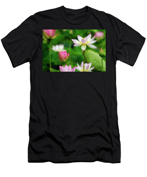 Brushed Lotus Men's T-Shirt (Athletic Fit)