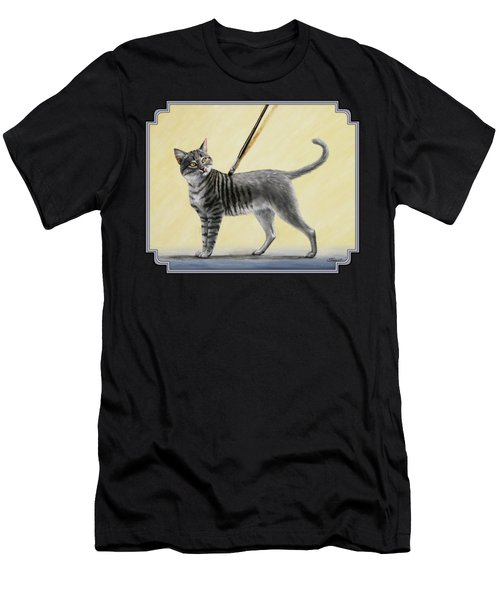 Brushing The Cat - No. 2 Men's T-Shirt (Athletic Fit)