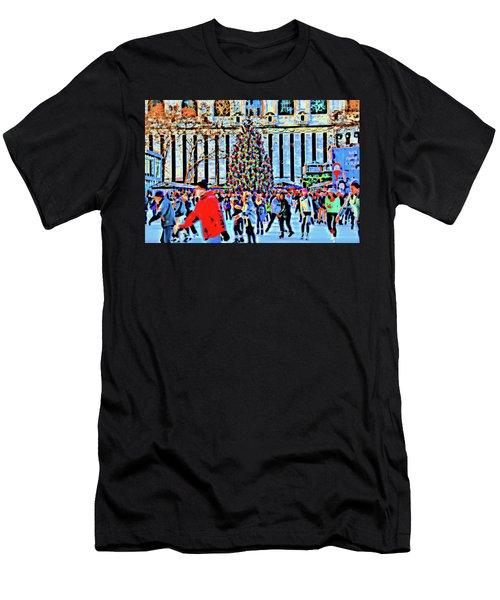 Bryant Park Christmas Tree Men's T-Shirt (Athletic Fit)