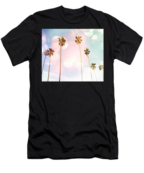 Bubble Gum Palm Trees Men's T-Shirt (Athletic Fit)