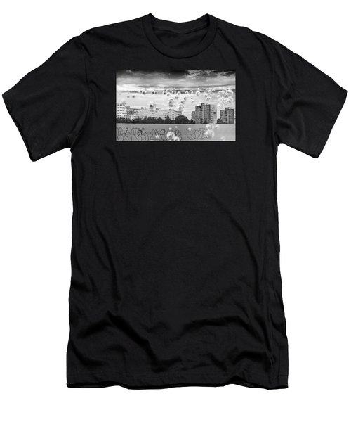 Bubbles And The City Men's T-Shirt (Slim Fit) by John Williams