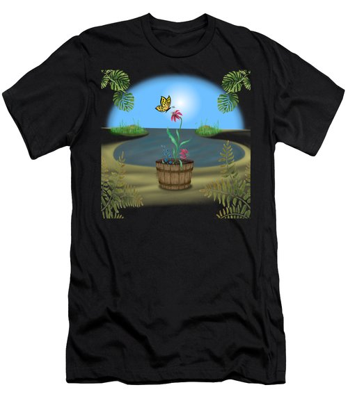 Bucket Butterfly Men's T-Shirt (Athletic Fit)