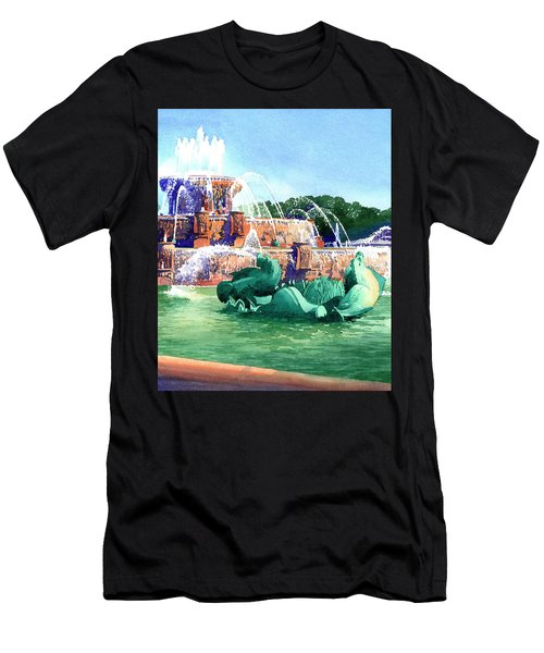 Buckingham Fountain Men's T-Shirt (Athletic Fit)