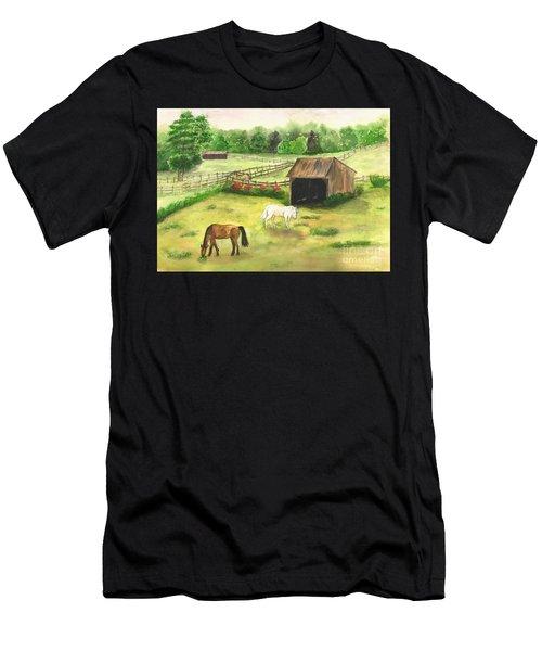 Bucks County Horse Farm Men's T-Shirt (Athletic Fit)