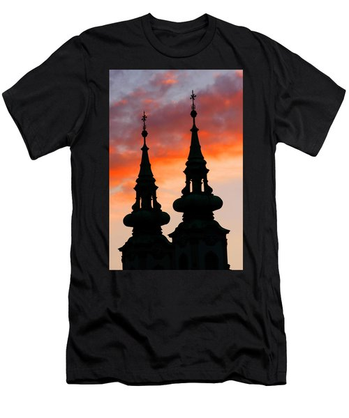 Men's T-Shirt (Slim Fit) featuring the photograph Budapest Sunset by KG Thienemann