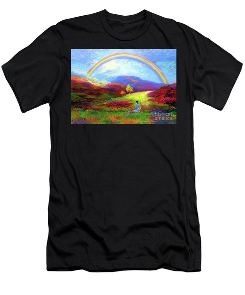 Buddha Chakra Rainbow Meditation Men's T-Shirt (Athletic Fit)