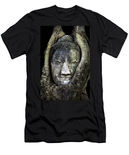 Buddha Head In Banyan Tree Men's T-Shirt (Athletic Fit)