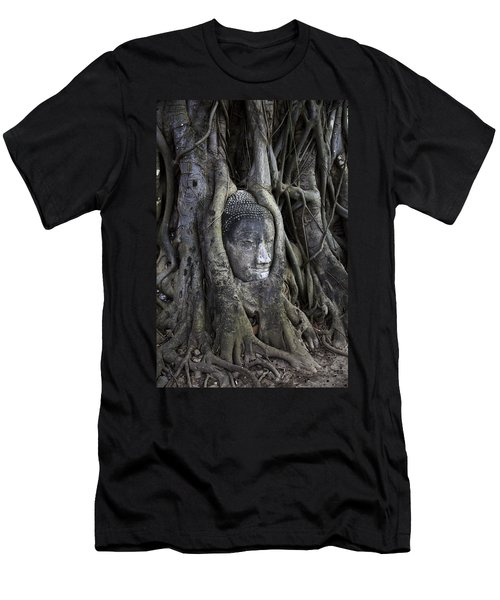 Buddha Head In Tree Men's T-Shirt (Slim Fit)