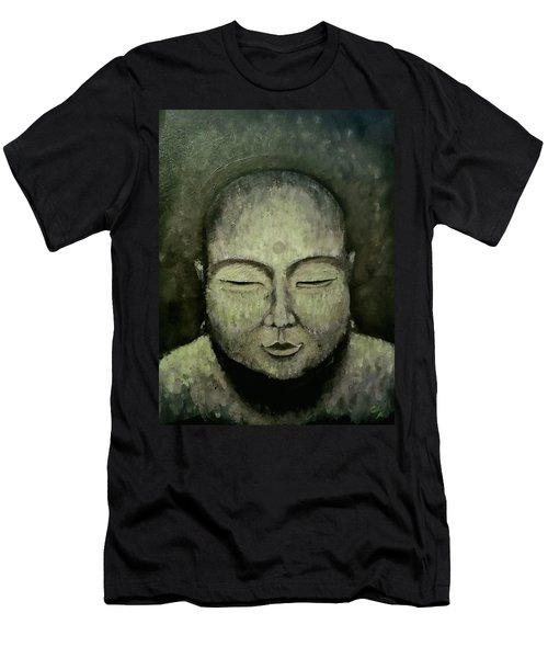 Buddha In Green Men's T-Shirt (Athletic Fit)