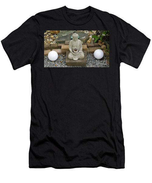 Buddha In The Garden Men's T-Shirt (Athletic Fit)