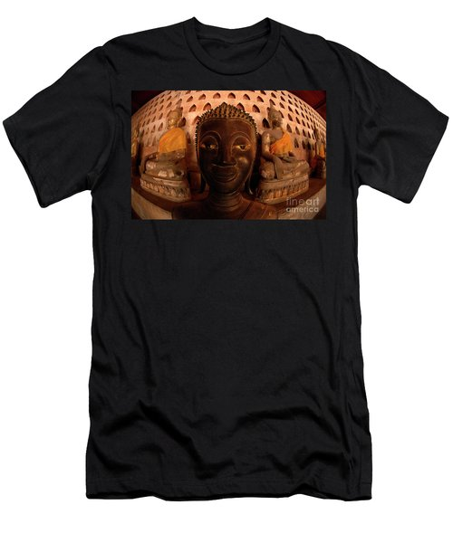 Men's T-Shirt (Slim Fit) featuring the photograph Buddha Laos 1 by Bob Christopher