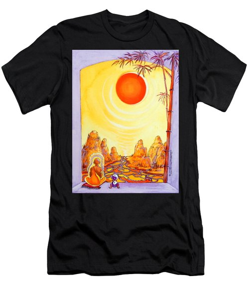 Buddha Meditation Men's T-Shirt (Athletic Fit)