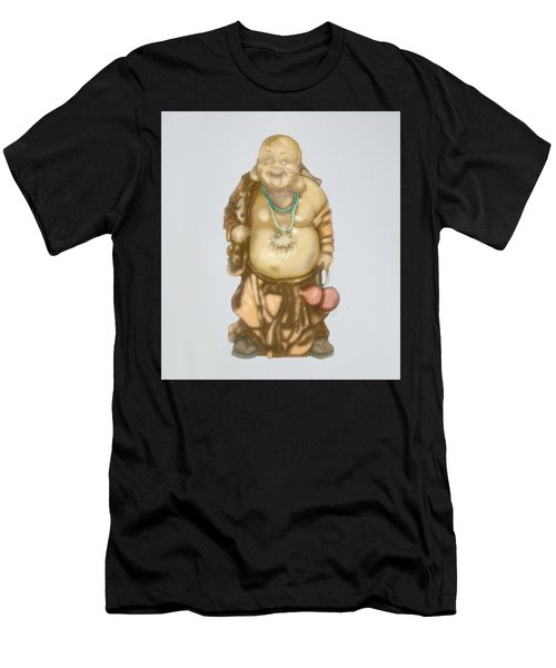 Men's T-Shirt (Athletic Fit) featuring the mixed media Buddha by TortureLord Art