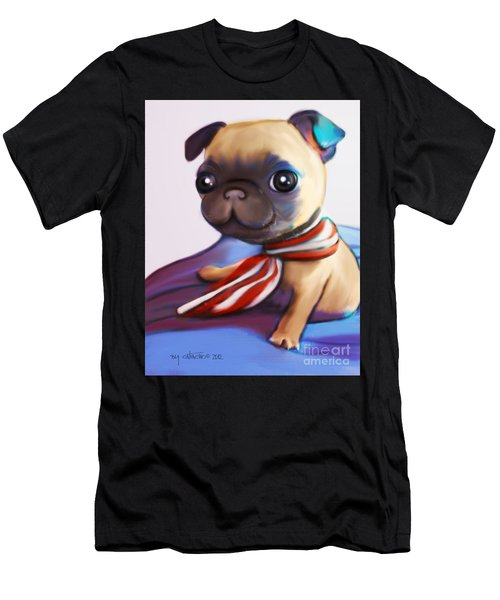 Buddy The Pug Men's T-Shirt (Athletic Fit)