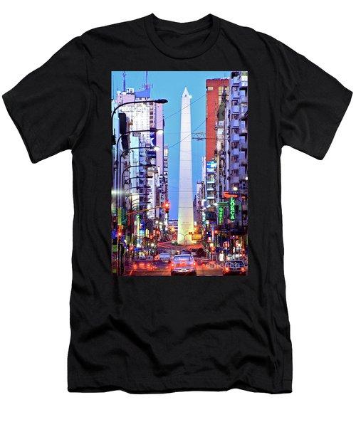 Buenos Aires Obelisk Men's T-Shirt (Athletic Fit)