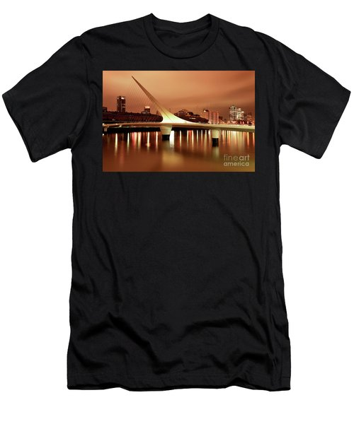 Buenos Aires On Fire Men's T-Shirt (Athletic Fit)