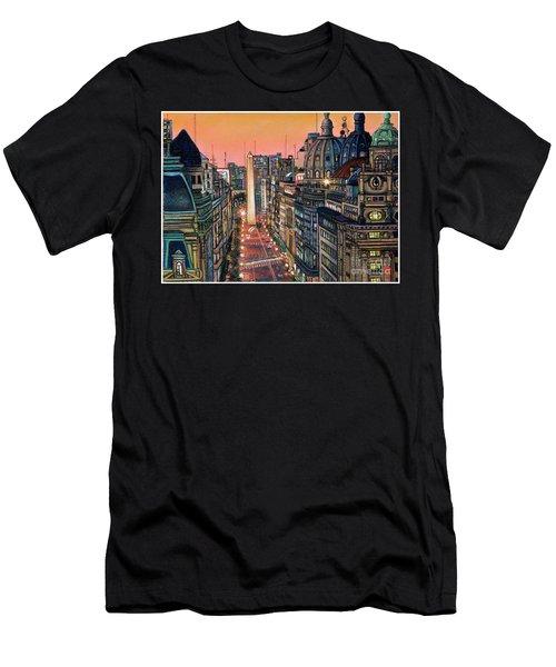 Buenos Aires Twilight Men's T-Shirt (Athletic Fit)