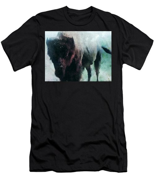 Buffalo American Bison Men's T-Shirt (Slim Fit) by Michele Carter