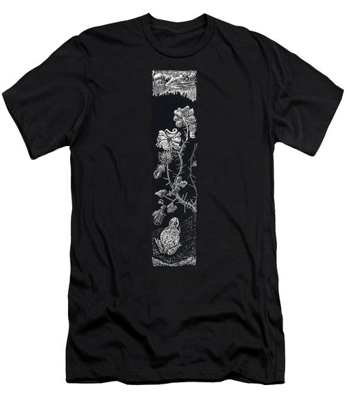 Men's T-Shirt (Slim Fit) featuring the drawing Buffalo Burr And Toad by Dawn Senior-Trask