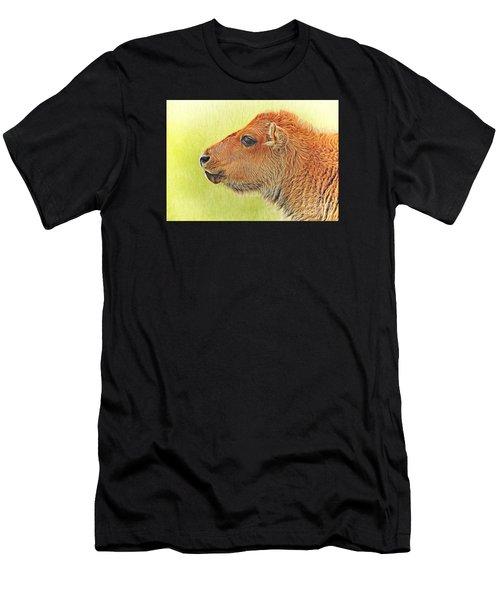 Buffalo Calf Two Men's T-Shirt (Athletic Fit)
