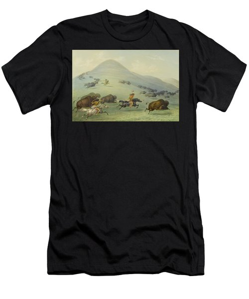 Buffalo Chase Men's T-Shirt (Athletic Fit)
