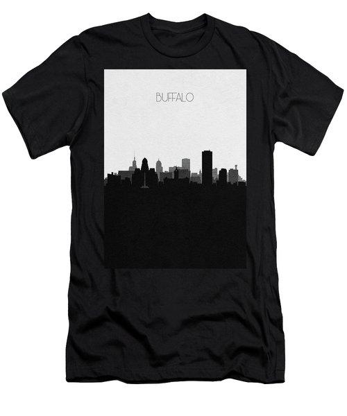 Buffalo Cityscape Art Men's T-Shirt (Athletic Fit)