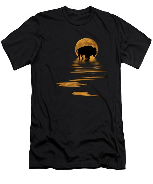 Buffalo In The Moonlight Men's T-Shirt (Athletic Fit)