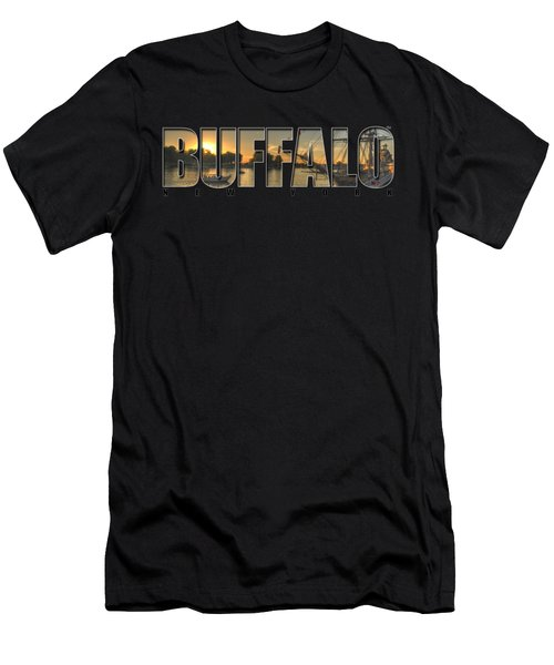 Buffalo Ny Canalside Sunset Men's T-Shirt (Athletic Fit)