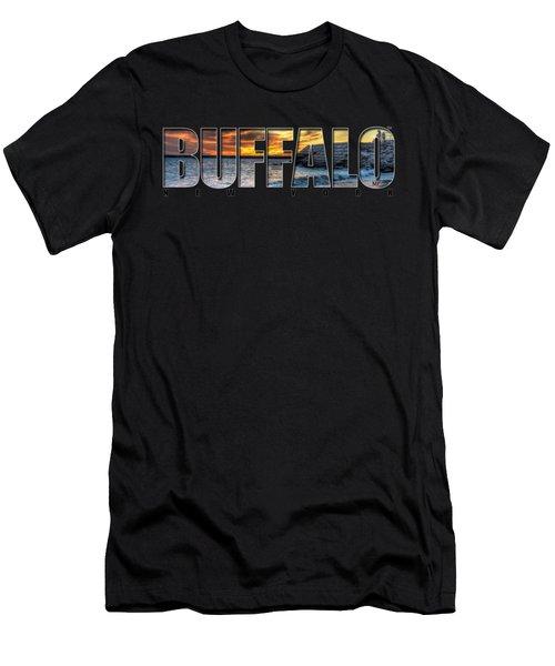 Buffalo Ny Erie Basin Marina Sunset Men's T-Shirt (Athletic Fit)