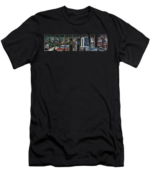 Buffalo Ny Niagara, Elmwood And Delaware Men's T-Shirt (Athletic Fit)