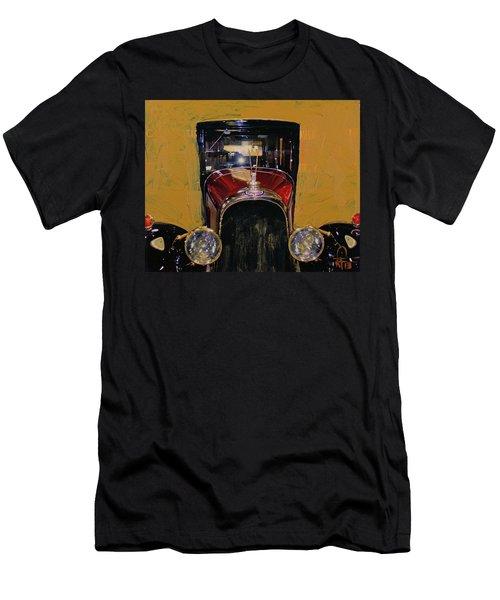 Bugatti Vintage Maroon Men's T-Shirt (Slim Fit) by Walter Fahmy
