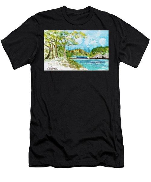 Bugny Trees At Kanumera Bay, Ile Des Pins Men's T-Shirt (Athletic Fit)