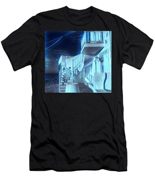 Building At Harbour  Men's T-Shirt (Athletic Fit)
