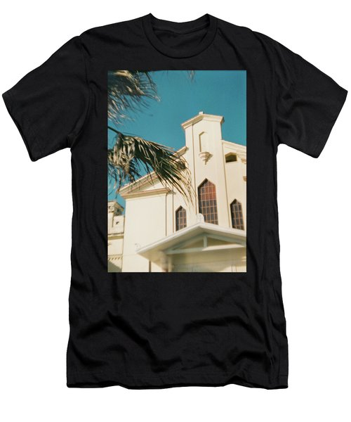 Building Behind Palm Tree In Ostia, Rome Men's T-Shirt (Athletic Fit)