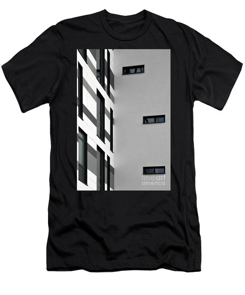 Men's T-Shirt (Athletic Fit) featuring the photograph Building Block - Black And White by Wendy Wilton